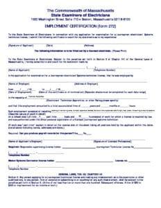 Employment Certification Form El Boston Jatcboston Jatc